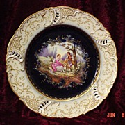 SALE PENDING Exquisite Nymphenburg Handpainted Cabinet Plate~ Must See