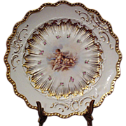 Delicately Ornate Cherub~ Puti Cabinet Plate