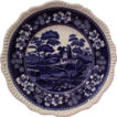 "Copeland Spode ""Spode Tower"" 10.5"" Dinner Plate Blue (3)"