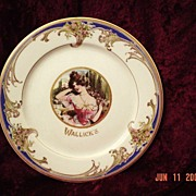 Advertising Lamberton Restaurant China Portrait Plate ~ Wallick' s