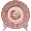 "Jenny Lind Red/Pink Transfer Luncheon/Salad 8"" Plate  Royal Staffordshire"