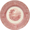 "Jenny Lind Red/Pink Transfer 10"" Dinner Plate  Royal Staffordshire"