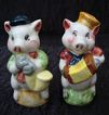 Porcelain Musical Piggies Salt & Pepper Shakers