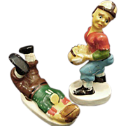 1940 Football Players Salt & Pepper Shakers