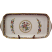 "Fine Coalport Ming Rose Bone China Handled Tray 11-1/2"" Nice Colors"