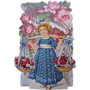 Delightful Victorian Pop-Up Valentine Card~ Roses Galore
