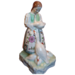 Herend Porcelain figurine girl with geese
