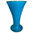Blue hand painted Nippon porcelain flared 8 inch vase.