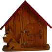 Vintage Please Leave a Note, carved and painted Dog House