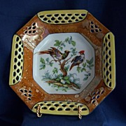SOLD Porcelain Bavarian Reticulated Bowl Schwartzenhammer Co. 1905