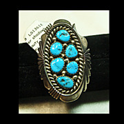 Turquoise Nugget and Sterling Silver Ring
