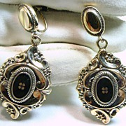 Late Victorian Drop Style Vermeil Earrings