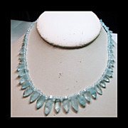 Aqua and Sterling Silver Necklace
