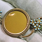 Victorian Gold Over Brass Locket Style Broach