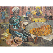 Germaine (Paul) Gauguin Chardon African Black Lady Selling Fruit