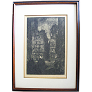 SALE Wilson Eugene Silsby 1883 -1952) Org. Signed 1920s Etching Paris Street