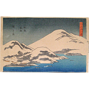 SALE Vintage Ando Hirishigi titled &quot;Mt. Fuji with Snow&quot;