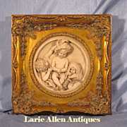Marble Relief Plaque 'The Infant Academy' after E.W. Wyon Sculpture