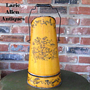 Antique Italian Tole Ash Bucket