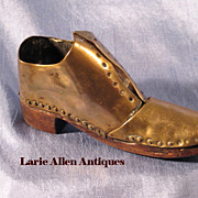 Handmade Miniature Shoe Brass with Wooden Sole