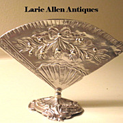 Hanau Silver Fan Menu Holder Karl Kurz