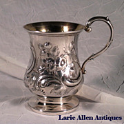 Sterling English Christening Cup Mug c.1850