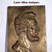 Large Abraham Lincoln Relief Profile Plaque