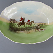 Vintage Royal Doulton Porcelain Series Ware Hunting Bowl by Charles Simpson - dated 1950