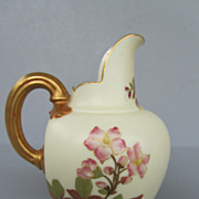 Antique Royal Worcester Blush Ivory Pitcher - dated 1888