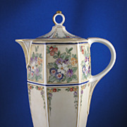 Antique Moritz & Zdekaur (Austrian) Chocolate Pot - c. 1884-1909