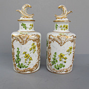 Antique Sevres Porcelain Cologne Bottles Dated 1771