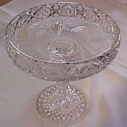 Pressed Glass Compote EAPG, c. 1900