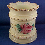 Heisey Roses Ring Band Custard Spooner c. 1900