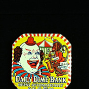 Clown & Monkey Daily Dime Registering Bank
