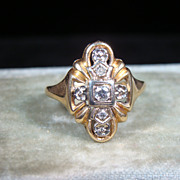 Vintage 14k Gold Diamond Ring