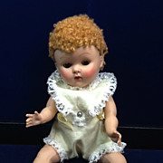 Vintage 1950's Vogue Ginny Doll Poodle-Cut Wig Baby