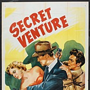 "Original 1955 Movie Poster ""Secret Venture""  3sh.  41""x81"""