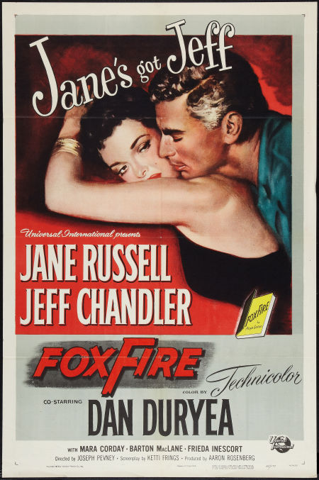 Original Movie Poster &quot;Foxfire&quot; Jane Russell, Jeff Chandler, Dan Duryea