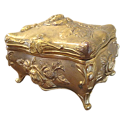 Art Nouveau Repousse Trinket Dresser Box