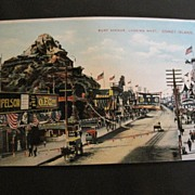 Vintage Postcard Coney Island Surf Avenue