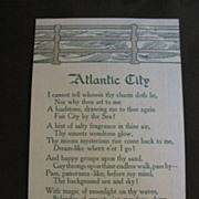 Vintage Postcard Atlantic City Poem