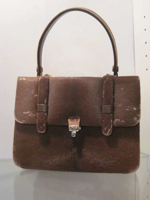 Vintage Pony Hide Purse late 1950's to early 1960's