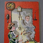 SALE Unusual Halloween Postcard with nasty connotation cursing hexing