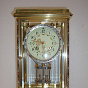 SOLD A 4-glass Champleve mantel Clock period C1880.