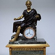 SOLD A Giant French Marble And Gilt,- Bronze Mantel Clock From Period C1855.