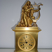 An Early French Louis Philippe Brass Gilt Bronze Mantel Clock C1835