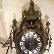 REDUCED 19th Century French Bronze Wall Clock