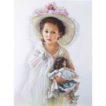 Sandra Kuck (American, Contemporary) Child with Doll Original Airbrush