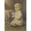 Catherine B Gulley (British fl.1908-1928) �Speak Lord�: A portrait of a child praying Watercolor