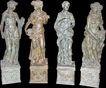 Set of 4 Bronze Sculptures